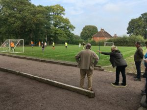 petanque with walking football